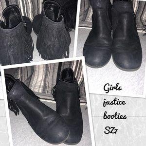 Girls justice booties SZ 7 (big girl)